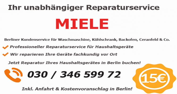 Miele Reparatur in Berlin