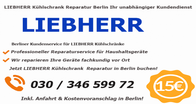 Liebherr Kühlschrank Reparaturdienst Berlin - Schnell ...